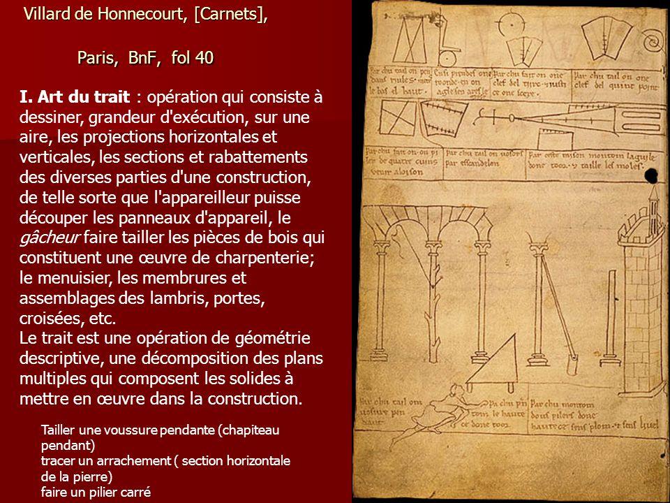 Villard de Honnecourt, [Carnets], Paris, BnF, fol 40